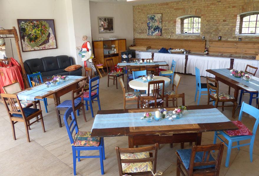 Kutschensaal, eingerichtet für eine Jugendweihe