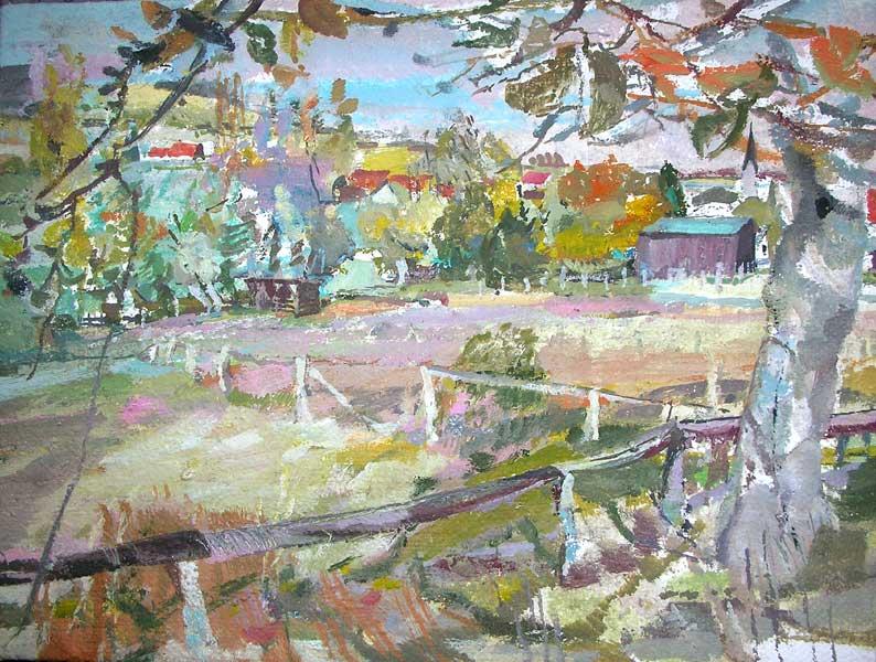 Via Romea 2012, Öl auf Leinwand, 30 x 40 cm